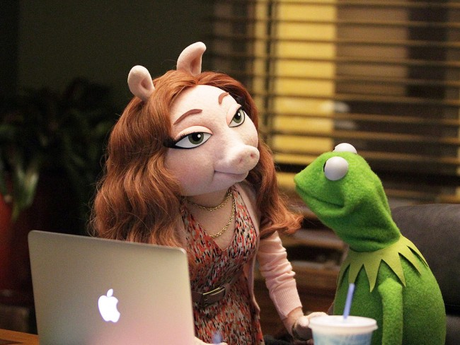 muppets kermit the frog new gf denise 1