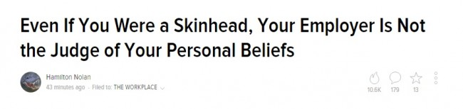 skinhead Gawker
