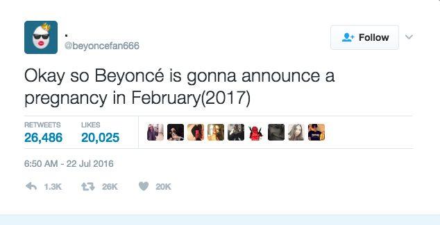 beyonce pregnancy tweet