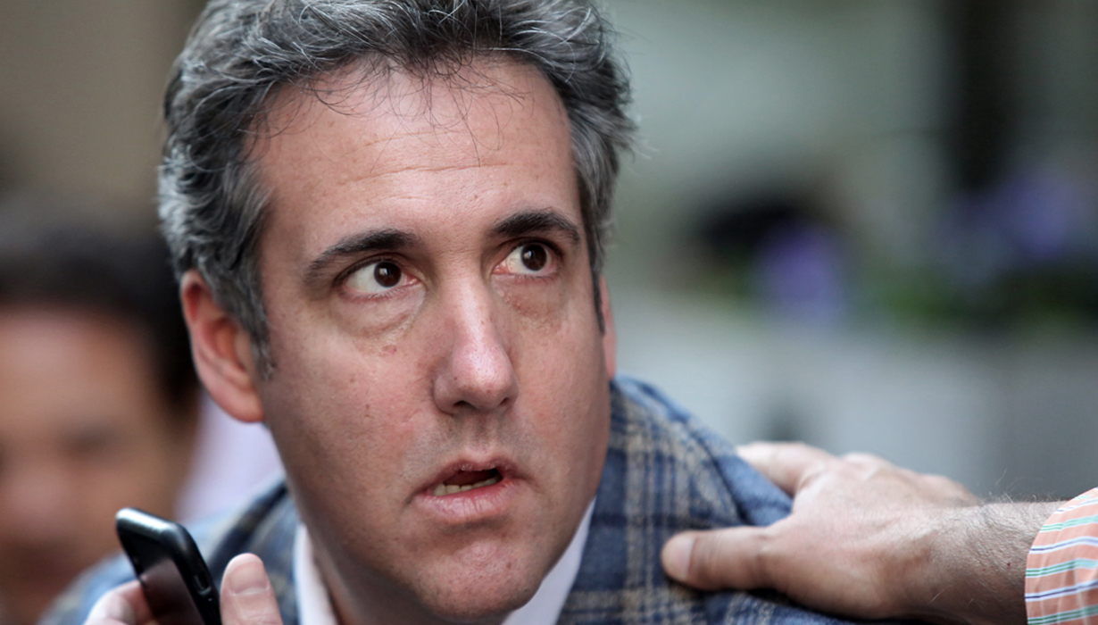 Michael Cohen, then President Donald Trump's personal attorney, in NYC on April 13, 2018. The FBI raided his home, office and hotel room. In May of 2019, those warrants were made public.