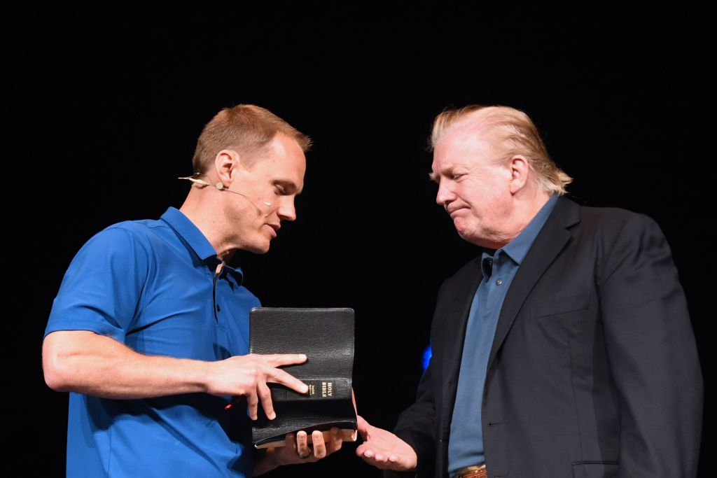 Donald Trump Shakes Hands with Pastor David Platt, McLean Bible Church