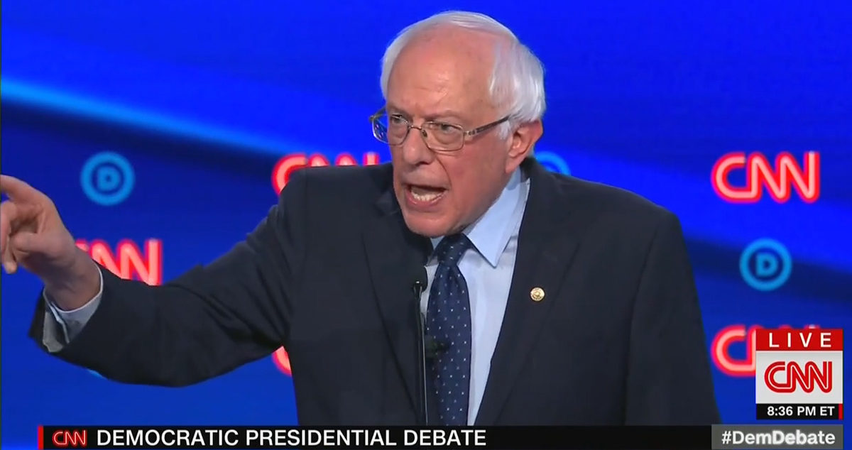 "Independent Vermont Senator and Democratic presidential candidate Bernie Sanders went after CNN anchor Jake Tapper over his line of questioning on health care, shouting ""Your question IS a Republican talking point!"""