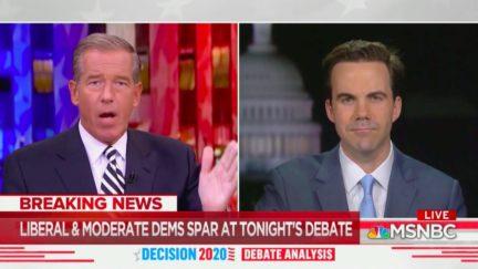 Brian Williams Mocks Ambitious Plans of Progressive Democrats at Debate
