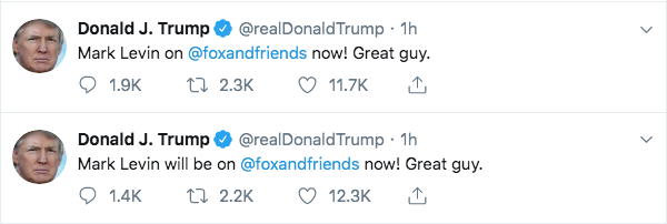 Trump Tweets About Mark Levin