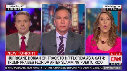 CNN Panel Clashes Over Trump's FL vs. PR Hurricane Rhetoric