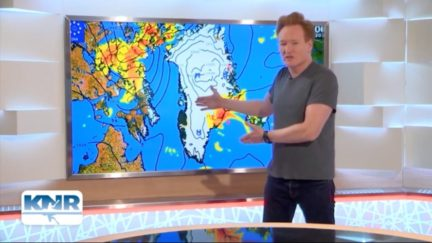 Conan O'Brien Delivers–and Butchers–Local TV Weather Report in Greenland