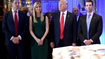 Donald, Ivanka, Eric and Don Trump Jr.