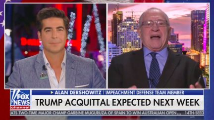 Alan Dershowitz Does Impression of Scowl He Says Bernie Sanders Gave Him During Senate Speech