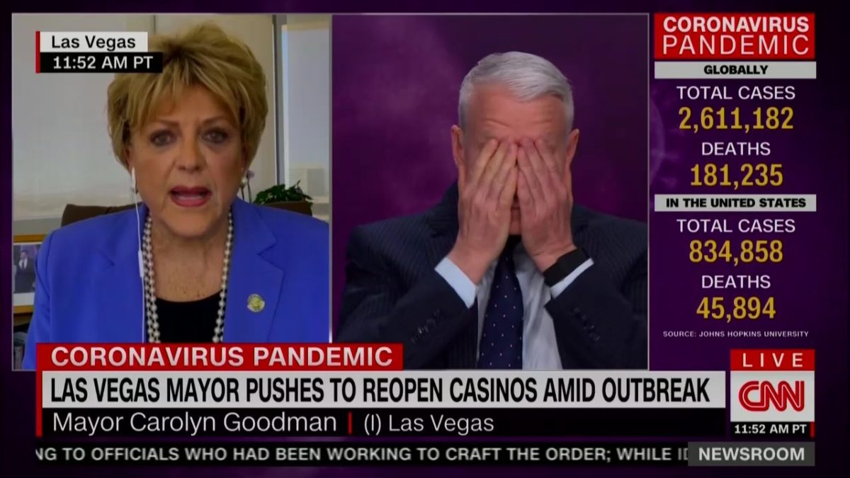 Las Vegas mayor spars with CNN over reopening the city