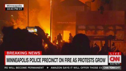 Protestors Set Fire to, Take Over Minneapolis Police Precinct Tied to George Floyd Killing