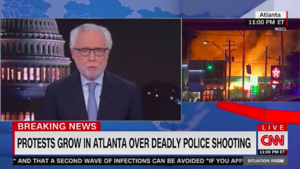 CNN Breaking News Coverage of Rayshard Brooks Protests Earns Big Weekend Ratings
