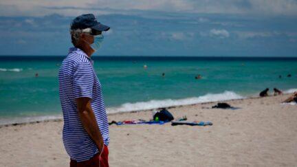 facemask miami florida beach