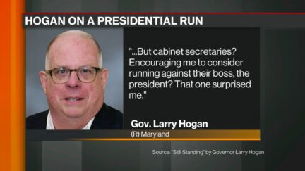Larry Hogan Was Encouraged by Trump Cabinet to Challenge Trump in 2020