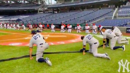 MLB Opening Day Teams Kneel in Support of Black Lives Matter