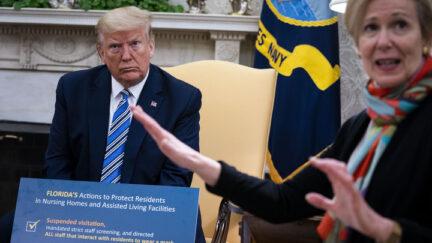 Birx Trump Doug Mills/Getty Images)