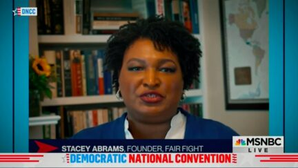 Stacey Abrams Contrasts Biden's 'Proven Courage' With Trump 'President of Cowardice'
