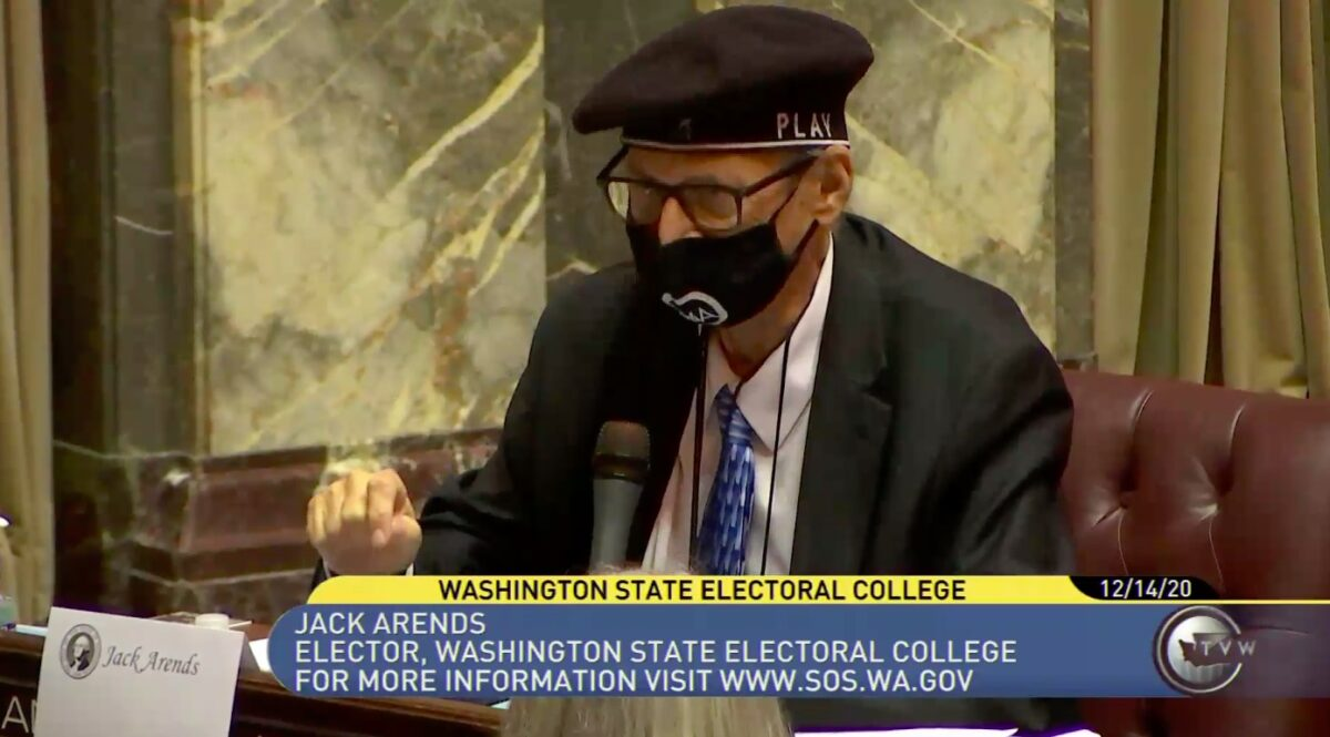 WA Elector Jack Arends Emotionally Casts Vote for Biden Against 'Petty Dictator' Trump