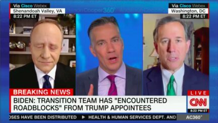 Jim Sciutto Calls Out Rick Santorum Over Comparing Mueller Probe to Trump Blocking Biden Transition