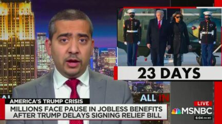 Mehdi Hasan Blasts Trump for Needless Delay in Signing Covid Relief Bill