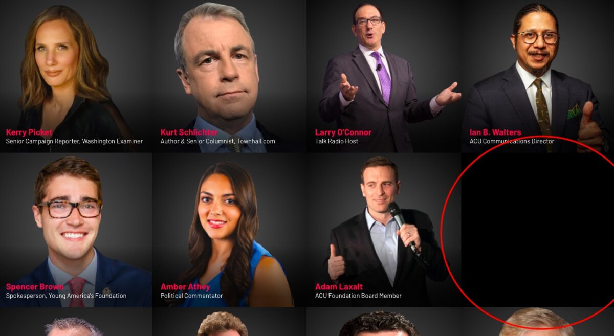 CPAC Speakers list, Young Pharaoh missing