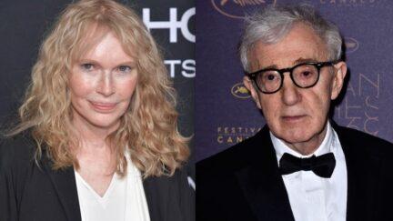 Woody Allen Mia Farrow Scared