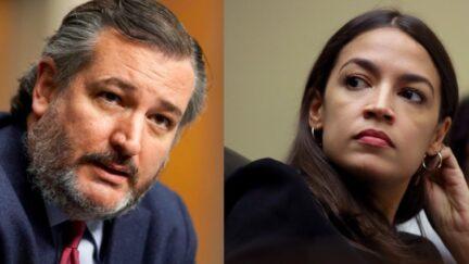 Ted Cruz and Alexandria Ocasio-Cortez