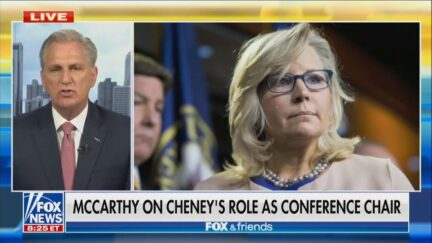 Kevin McCarthy discussing Liz Cheney on Fox and Friends
