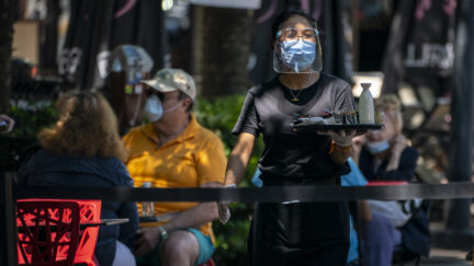 Streets Closed To Provide Space For Outdoor Dining In Bethesda During Pandemic