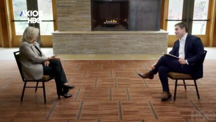 Liz Cheney and Jonathan Swan