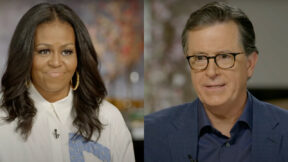 michelle obama on stephen colber