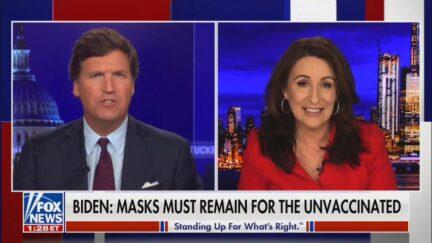Tucker Carlson and Miranda Devine on Fox News