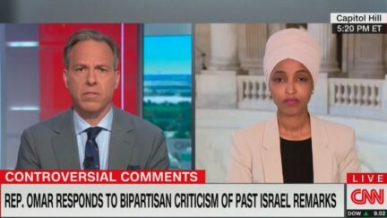 Jake Tapper and Ilhan Omar