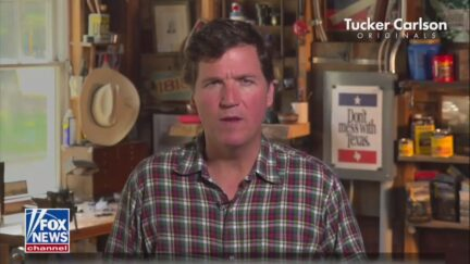 Tucker Carlson Tonight - WATCH_ Tucker Carlson Original Doc 'Illegal Invasion' Suggests Texans 'Have No Option' But Carry Guns to Protect Themselves - 01_00_01 AM