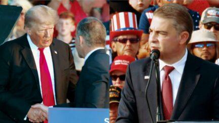 Donald Trump Mike Carey split