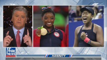 Sean Hannity Defends Simone Biles and Naomi Osaka