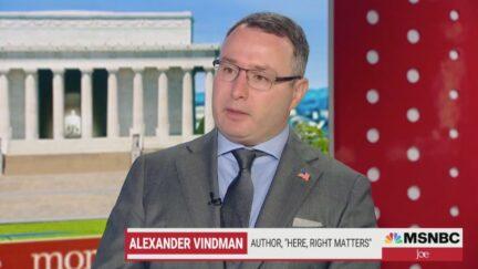 Alexander Vindman on Morning Joe