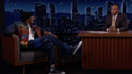 Snoop Dogg and Stephen A Smith on Kimmel