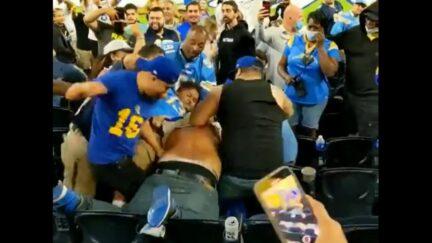 Rams-Chargers Fan Brawl