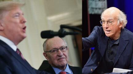 Donald Trump Alan Dershowitz Larry David