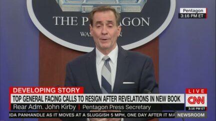 Pentagon spokesperson John Kirby at Pentagon press briefing on Sept. 15, 2021