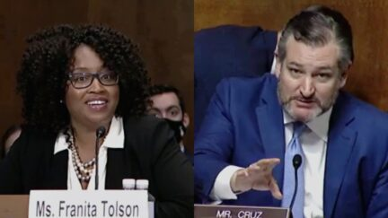 Franita Tolson Ted Cruz at Senate Hearing on Voting Rights