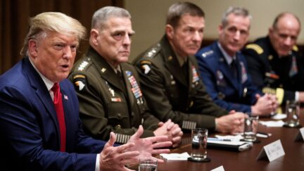 Trump with Military Generals