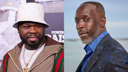 50 Cent at a Premiere and Michael K. Williams at SAG Awards