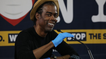 Chris Rock at former New York Governor Andrew Cuomo Holds His Daily Coronavirus In Brooklyn