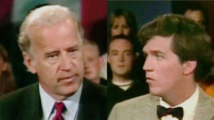 Joe Biden and Tucker Carlson on CNN September 20 2001