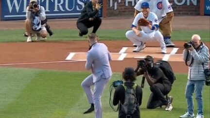 Conor McGregor throws out first pitch