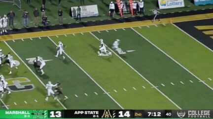 Rasheen Ali returns a kick for a touchdown