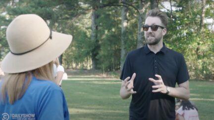 Jordan Klepper confronts anti-mask parents