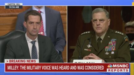 Mark Milley tells Tom Cotton he's not resigning over Afghanistan