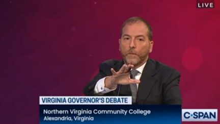 Chuck Todd dealing with debate interruption